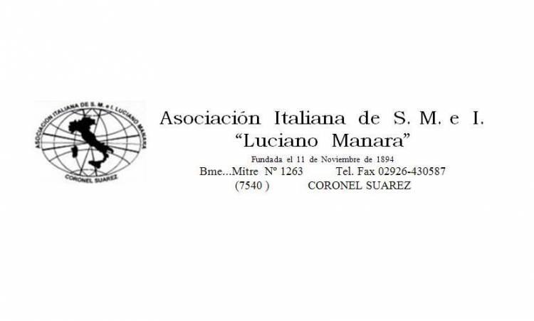 """Asamblea General Ordinaria de la Asociación Italiana """"Luciano Manara"""""""
