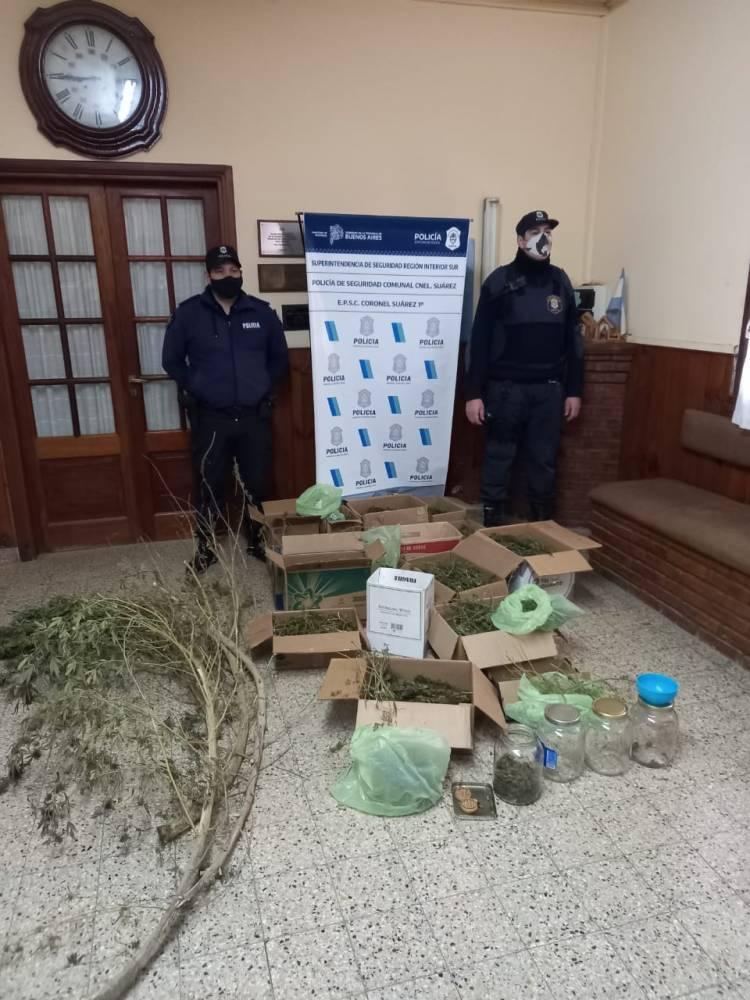 Labor realizada por la Policía Comunal de Coronel Suárez