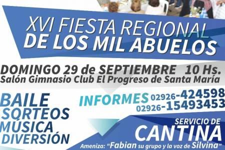 """Se acerca la XVI edición de la """"Fiesta Regional de los Mil Abuelos"""""""