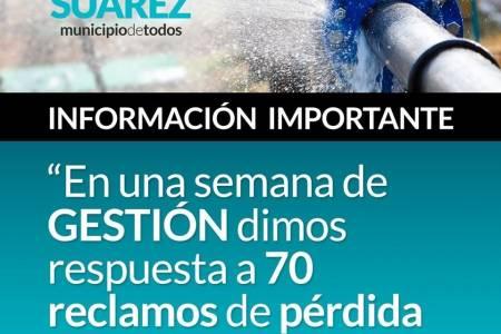 En una semana de GESTIÓN dimos respuesta a 70 reclamos de pérdida de agua