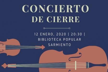 Concierto de cierre del Campamento de la Orquesta Escuela Juvenil de Coronel Suárez