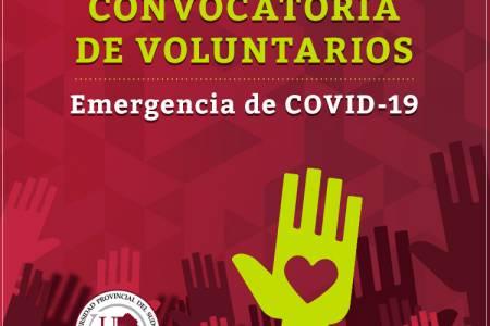Convocatoria de Voluntarios Emergencia de COVID-19 (Suárez-Daireaux-Darregueira)