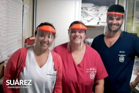 La Escuela Secundaria de Educación Técnica N° 1 se sumó a la fabricación de máscaras para el hospital