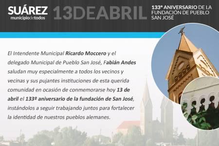 133º Aniversario de la fundación de Pueblo San José