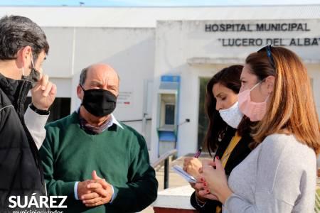 Moccero comprometió la reparación del techo del Hospital Lucero del Alba
