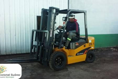 El municipio adquirió un autoelevador para la Planta de Reciclado