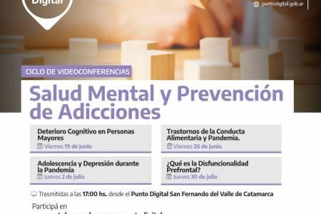 """Primer encuentro del Ciclo de videoconferencias """"Salud Mental y Adicciones"""""""