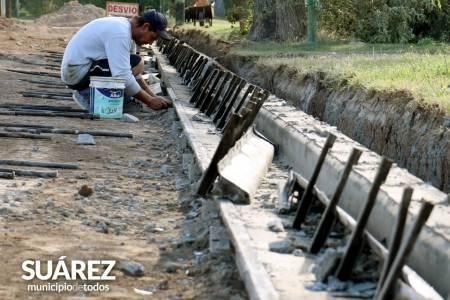 Más cordón cuneta en Coronel Suárez