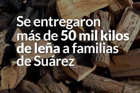 Se entregaron más de 50 mil kilos de leña a familias de Suárez
