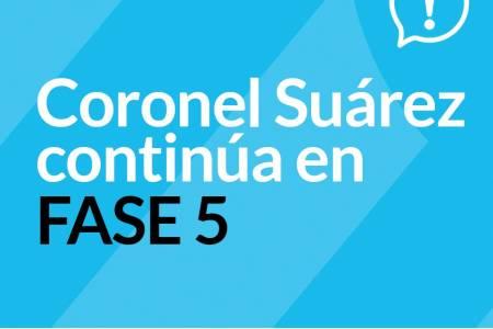 Coronel Suárez continúa en fase 5 – se extiende horario comercial y para la práctica deportiva