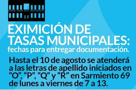 Eximición de Tasas Municipales