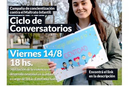 Campaña de concientización contra el Maltrato Infantil: Ciclo de Conversatorios