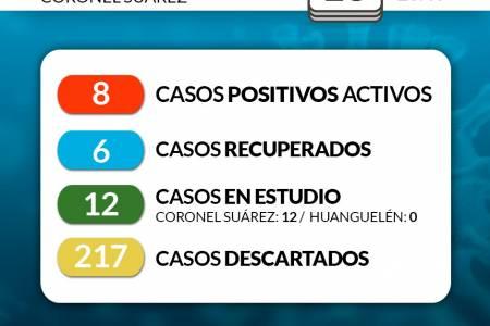 Situación de COVID-19 en Coronel Suárez - Parte 130 - 18/8/2020 23:40