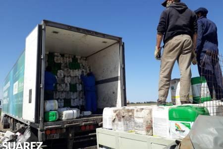 Búsqueda Itinerante de envases de fitosanitarios: se cargaron un total de 3574