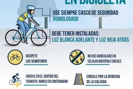 """Campaña de seguridad vial: """"Si salís en bici no te olvides el casco"""""""