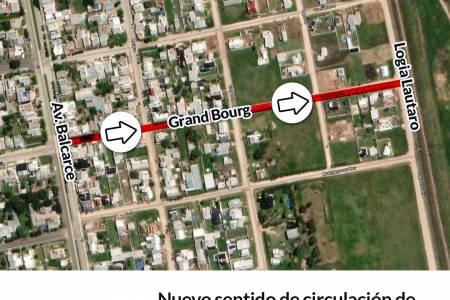 Nuevo sentido de circulación de calle Grand Bourg entre Logia Lautaro y Av. Balcarce