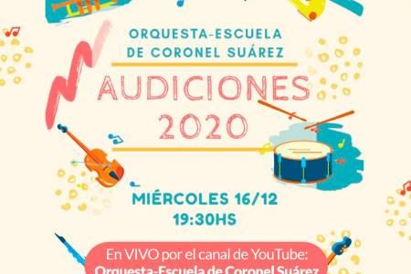 Orquesta Escuela de Coronel Suárez: Audiciones 2020
