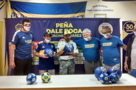 Donación de pelotas - Peña Dale Boca