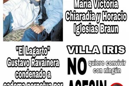 Marchan para que Ravainera no cumpla la domiciliaria en Villa Iris