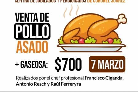 Centro de Jubilados de Coronel Suárez: venta de pollos asados
