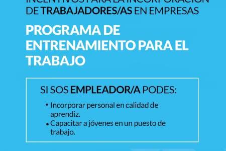 Programas de Entrenamiento para el Trabajo y la Inserción Laboral