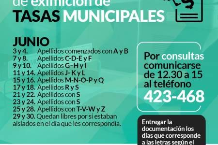 Renovación de eximición de Tasas Municipales