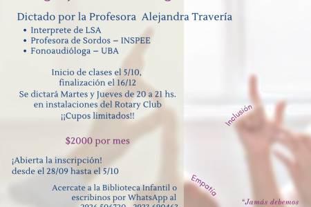 Curso Introductorio al Lenguaje de Señas Argentino