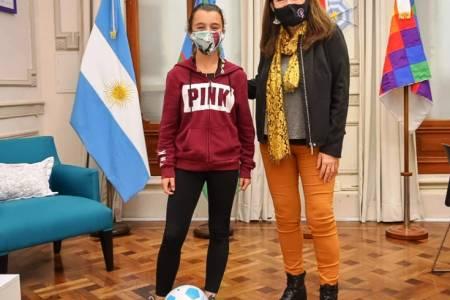 El Ministerio de las Mujeres, Políticas de Género y Diversidad Sexual, recibió a Emma Rodríguez y su familia
