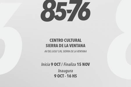 85-76 y dos puntos en el mapa: muestra de Arte en el Centro Cultural Sierra de la Ventana