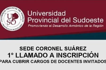 UPSO - Primer llamado a inscripción para cubrir cargos de docentes invitados