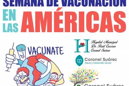 Comenzó en Coronel Suárez la Semana de Vacunación en las Américas
