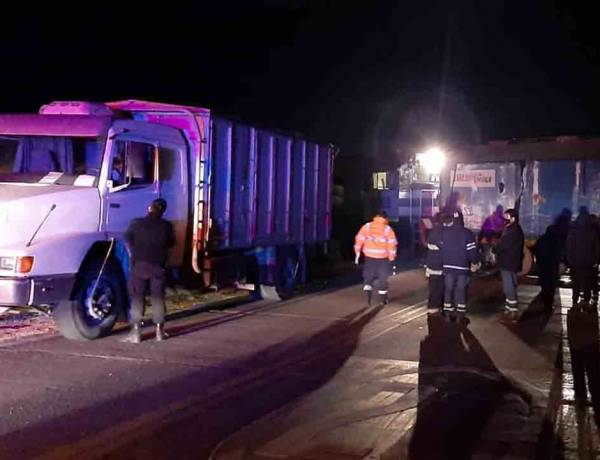 Camionero suarense embestido por un tren en El Guanaco