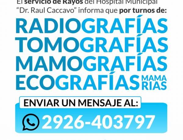 Servicio de rayos del Hospital Municipal