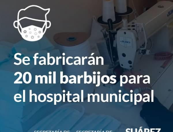 Se fabricarán 20 mil barbijos para el Hospital Municipal
