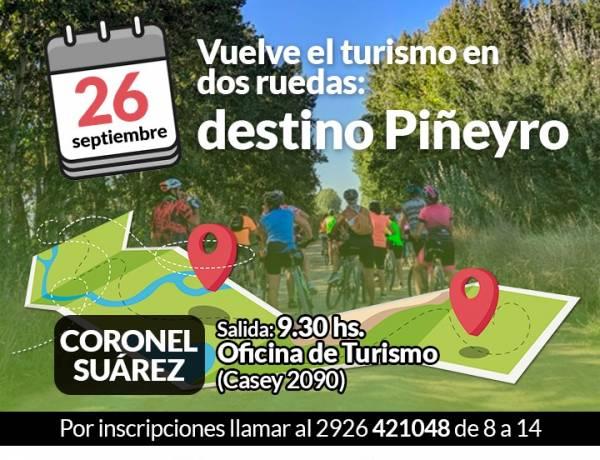 Vuelve el turismo en dos ruedas: destino Piñeyro