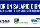 Declaración de URGARA, SOEA San Lorenzo y la FTCIODyARA: Por un salario digno como manda la Constitución Nacional