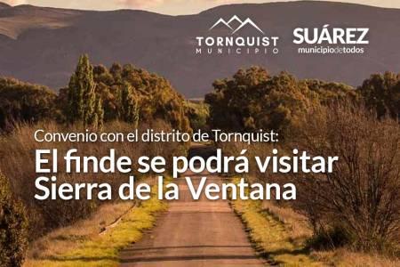 Convenio con el distrito de Tornquist: El finde se podrá visitar Sierra de la Ventana