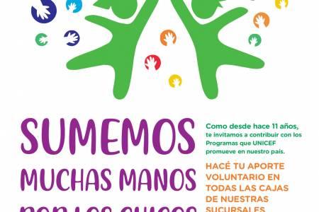 11° Edición de la Campaña Solidaria: SUMEMOS MUCHAS MANOS POR LOS CHICOS, JUNTOS PODEMOS CONSTRUIR UN MUNDO MEJOR