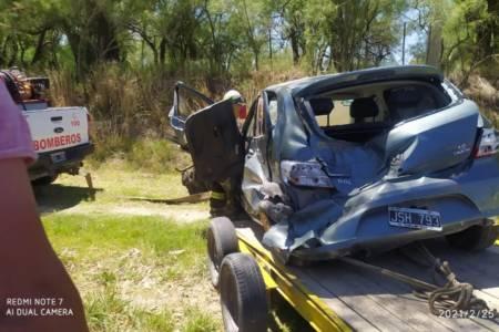 Dos muertos en un accidente en el acceso a Guaminí